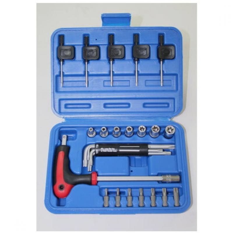 """27-pc, 1/4"""" Dr  E-type Socket & Star( TX) Key wrench set"""